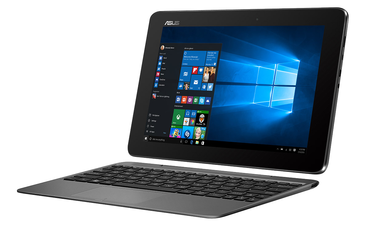 asus launches transformer book t100ha with windows 10 at