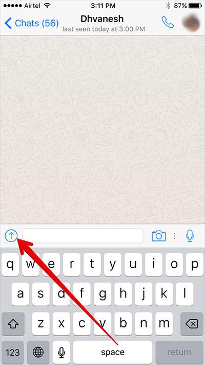 Send PDF File on WhatsApp in iPhone
