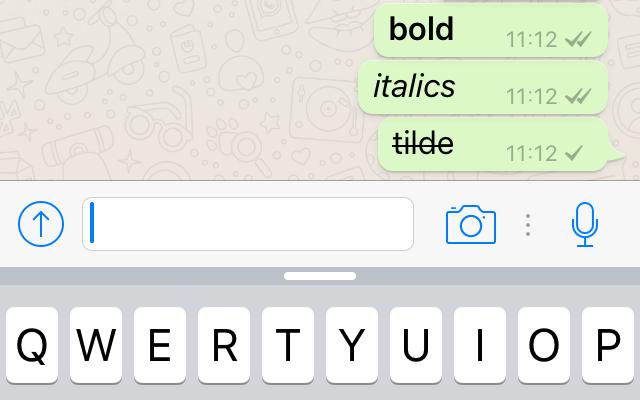 WhatsApp Updates Text Formatting Tools