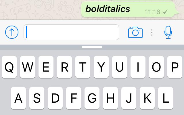 WhatsApp Updates Text Formatting Features