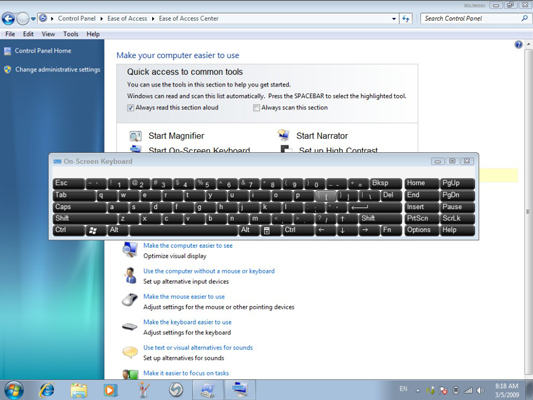 Steps to use ON-Screen Keyboards for Windows PC