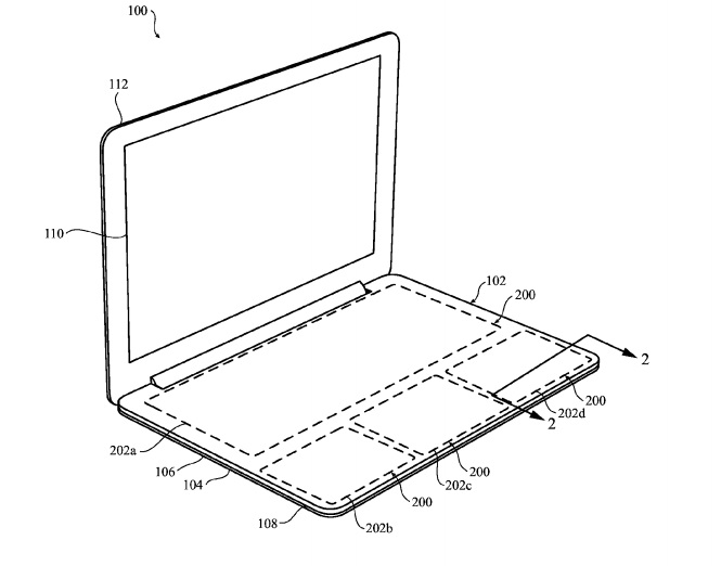 Apple files patent for keyless touchpad keyboard