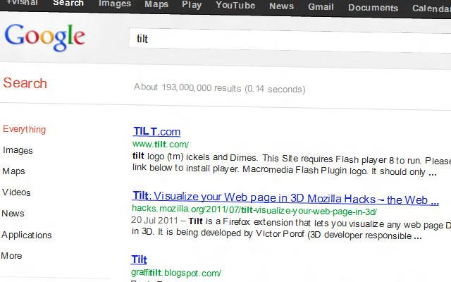 google gravity tilt