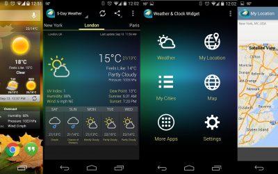 Weather-Clock-Widget-Android