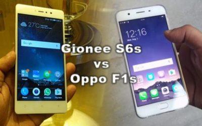 Oppo F1s vs Gionee S6s