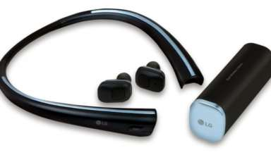 The LG Tone free is the company's first wireless stereo product to come with wireless earbuds that charge whenever they are stored inside the neckband, making them easy to charge and carry.