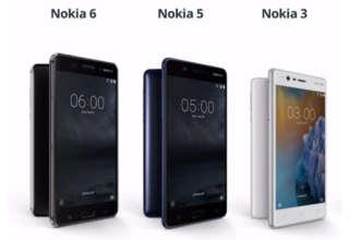 Nokia 3, Nokia 5 & Nokia 6