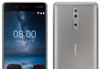 Nokia 8 in silver