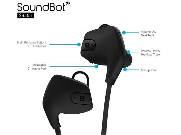 SoundBot bluetooth headphones