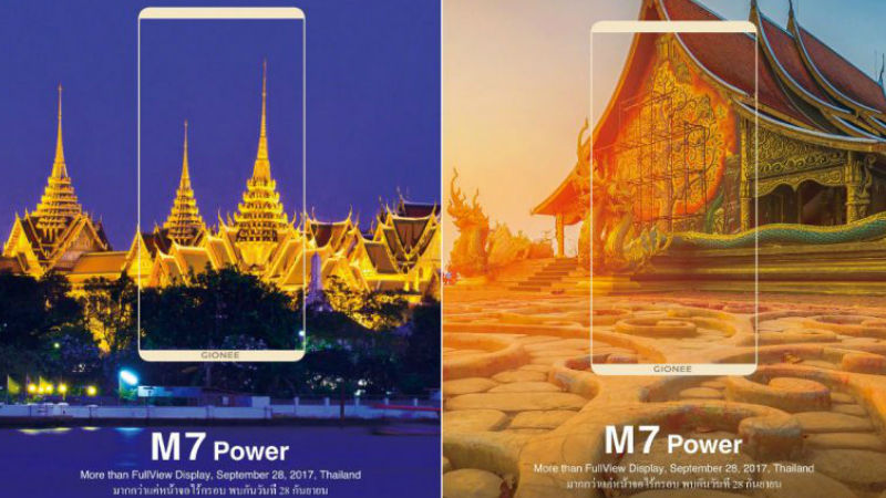 Gionee M7 Power Launch Set for September 28, Large Battery Expected