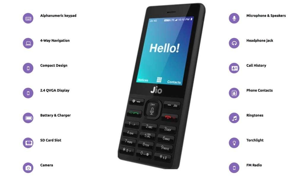 Jio Phone Specs