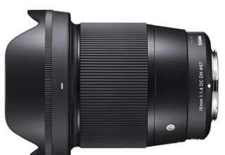 SIGMA 16 mm F1.4 DC DN lens