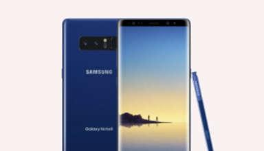 Samsung Galaxy Note 8 deep sea blue