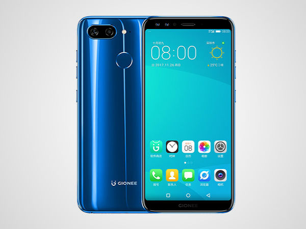 Gionee S11 Featuring Four Cameras To Launch In India In January 2018