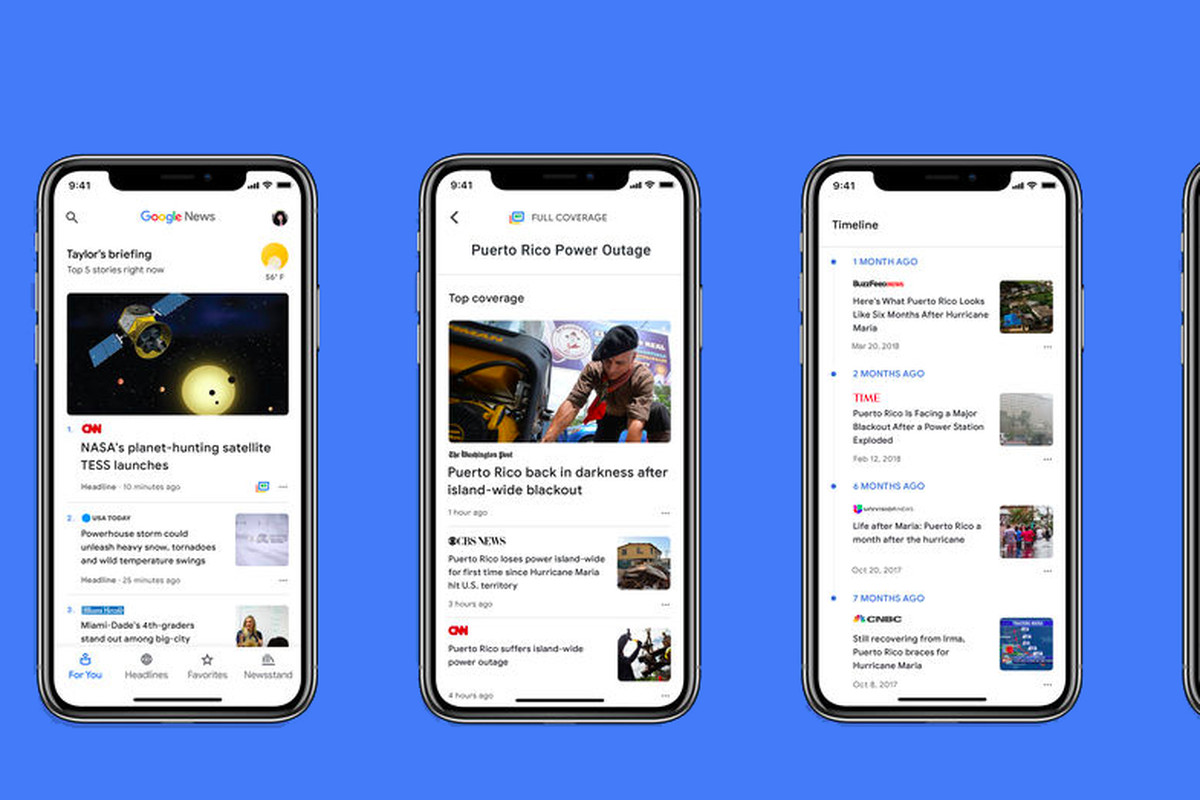 AI-powered Google News app