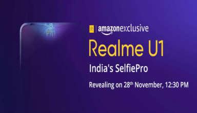 Realme U1 to launch on November 28
